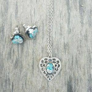 Necklace with Matching Earrings