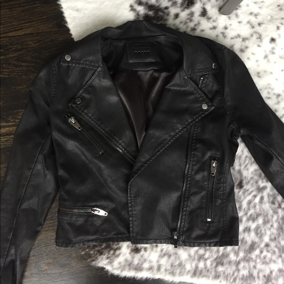 Blank NYC Jackets & Blazers - Blank NYC Black Faux Leather Jacket Size Small