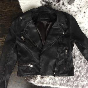 Blank NYC Black Faux Leather Jacket Size Small