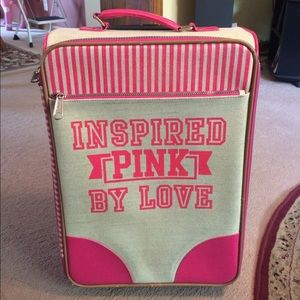 Rare vs pink suitcase-make an offer!