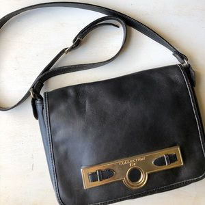 GT Collection black lambskin leather purse
