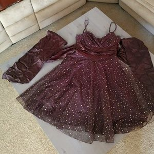 Brown sparkly dress