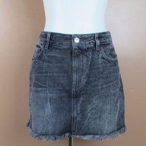 Guess High Waist Demin Skirt Medium Distressed