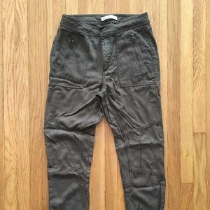 Olive Slim Boyfriend Pants