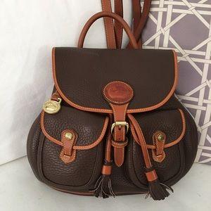 VTG Dooney Bourke AWL Drawstring Backpack HTF