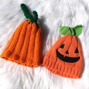 0-3M Baby Boy or Girl Halloween Pumpkin Hats 🎃