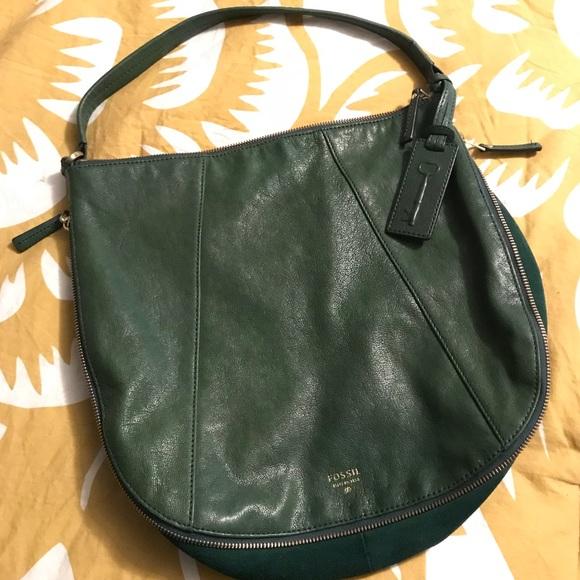 f14b8329e93cfc Fossil Handbags - Fossil Dark Green Hobo Bag