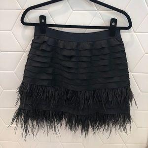 BCBG feather skirt with waist band