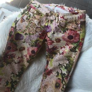 Tory Burch Floral Super Skinny Jean 27