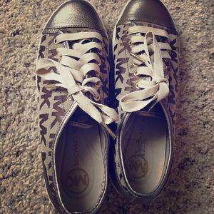 Gold/Tan Michael Kors Sneakers