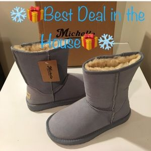 New Michelle winter Suede leather sky blue boots❤️