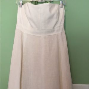 Beautiful J.Crew linen strapless gown fully lined