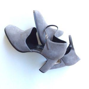 🆕LISTING {Apostrophe} Gray Suede Heels