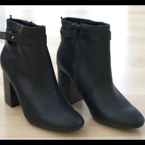 Old Navy Heeled Ankle Boots with Strap