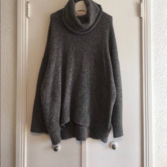32cdd8c3216 H M Sweaters - H M grey cowl neck knit sweater dress (oversized)