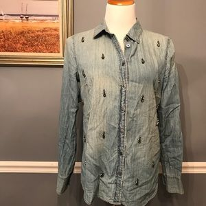 [J. Crew] Collection Beaded Boy Shirt