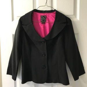 3/4 sleeve Black Blazer
