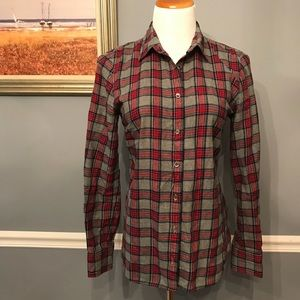[J. Crew] Plaid Flannel in Boy Fit