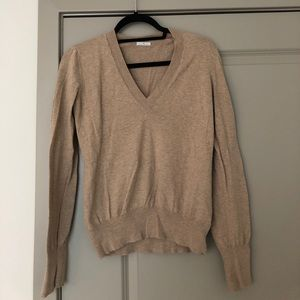 Madewell Wallace Oatmeal/ Beige V Neck Sweater M