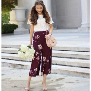 Lauren Conrad Runway High Waisted Floral Pants