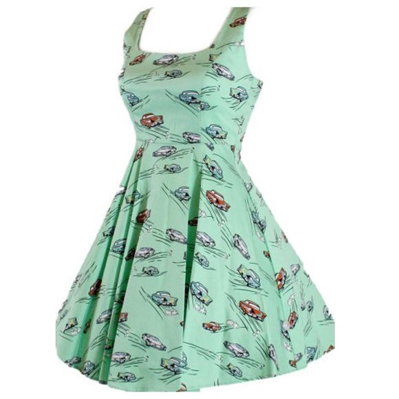 Retro Rockabilly Automobile Dress