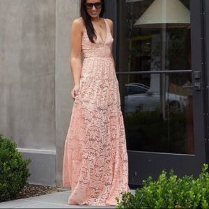 Lace Maxi Dress Gown
