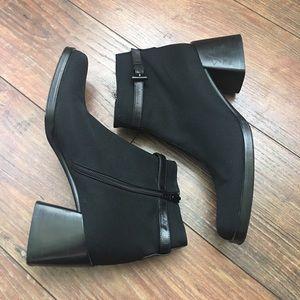 Via Spiga black booties with heel size 7.5