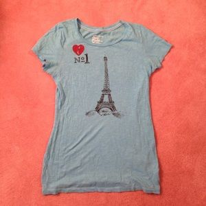 Blue American eagle tee size M