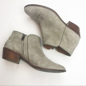 Sam Edelman Petty Bootie in Putty Suede.
