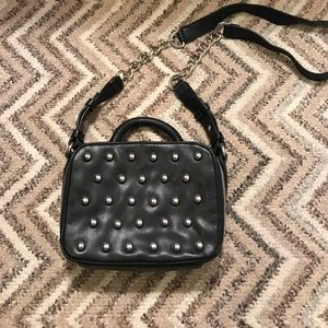 French connection cross body studded bag