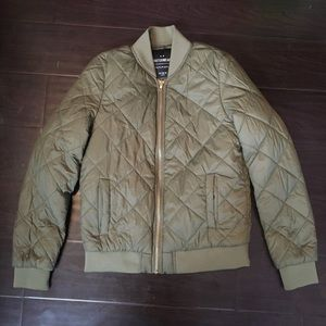 Cotton On quilted army green bomber jacket