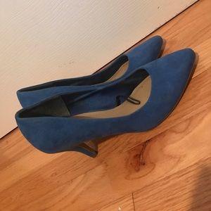 H&M Blue Suede Low Heels