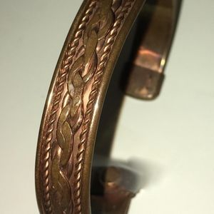 Copper Bracelet with Clear Coat on Back