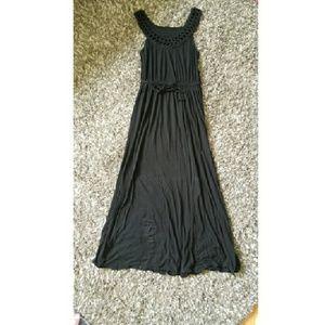 Mossimo Black Braided Neck Dress