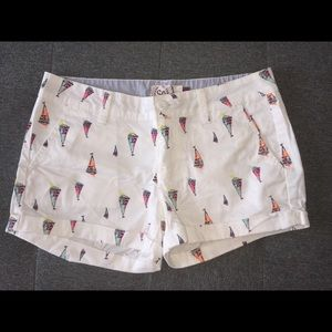 white sailboat shorts