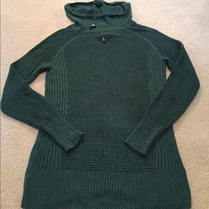Pretty teal cowlneck sweater