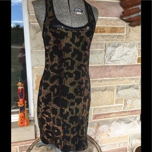 Express sequined mini dress