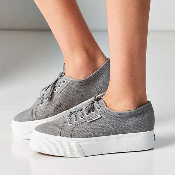 Superga Shoes | Superga Gray Platform