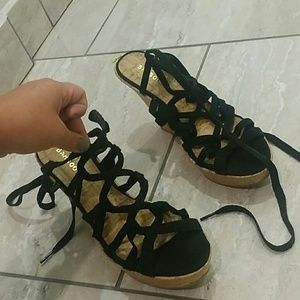 Bamboo wedges size 9