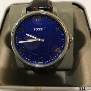 New With Tags Fossil Authentic Men's BQ2250 Brown