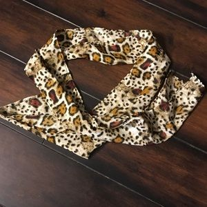 Women's Asos brown/black leopard print scarf