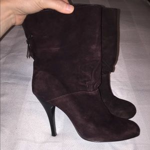 Chocolate brown suede Rampage booties