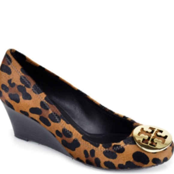 ee91abe13 Tory Burch Shoes - EUC TORY BURCH LEOPARD PONY HAIR WEDGES