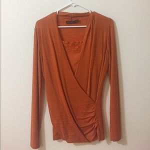 Orange Sweater with matching camisole