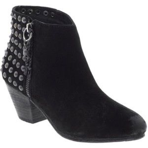 Ash Nevada Black Studded Booties.