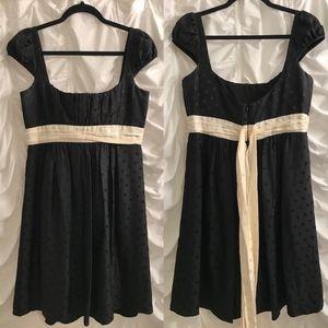 Milly silk black & ivory jacquard silk dress (10)