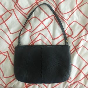 Gap Black Leather Convertible Strap Clutch