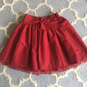 Red Holiday Skirt Gap