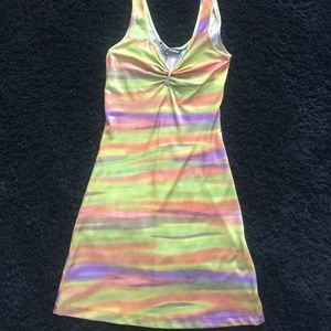Betsey Johnson multicolored fitted dress