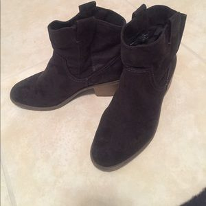 Suede Like Ankle Boots